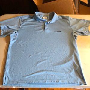 Columbia blue Men xxl Omni-shade polo golf shirt 6